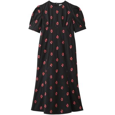 leur logette ルール ロジェット フラワー刺繍ドレス レディース ブラック 0