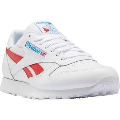 リーボック REEBOK メンズ スニーカー シューズ・靴 Classic Leather Sneaker White/Red