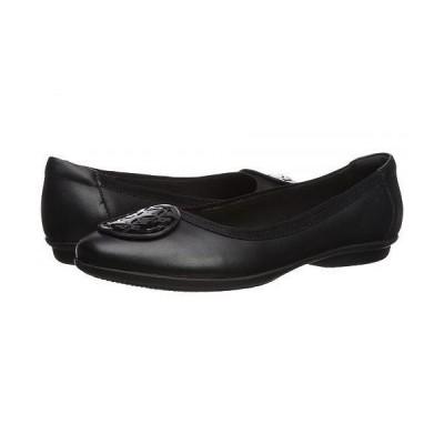 Clarks クラークス レディース 女性用 シューズ 靴 フラット Gracelin Lola - Black Leather/Synthetic Combo