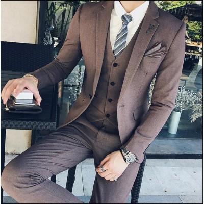 2点セット ジャケット&ズボン メンズスーツ レギュラー 紳士服 ビジネス 結婚式 お洒落 成人式 細身 宴会 通勤 入学式 卒業式  面接 パーティー