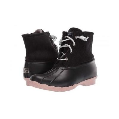 Sperry スペリー レディース 女性用 シューズ 靴 ブーツ レインブーツ Saltwater Corduroy - Black/Rose