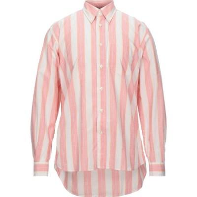 ニューイングランド NEW ENGLAND メンズ シャツ トップス striped shirt Coral