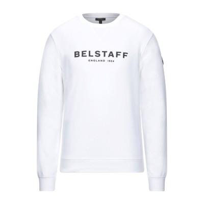 ベルスタッフ BELSTAFF スウェットシャツ ホワイト S コットン 100% スウェットシャツ