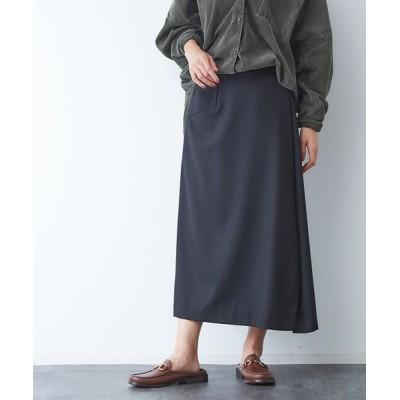 Rouge vif la cle/ルージュ・ヴィフ ラクレ サキソニーポケット付スカート ブラック 38