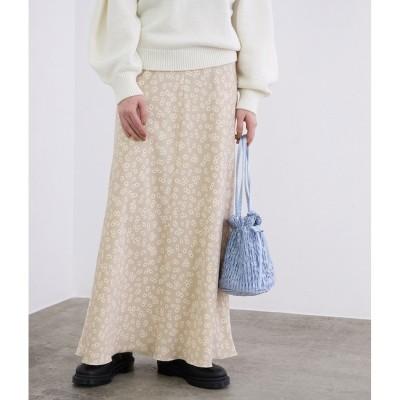 【マドモアゼル ロペ/MADEMOISELLE ROPE'】 ヴィンテージライクフラワーマーメイドスカート