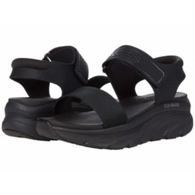SKECHERS スケッチャーズ レディース 女性用 シューズ 靴 サンダル Dlux Walker New Block Black/Black【送料無料】