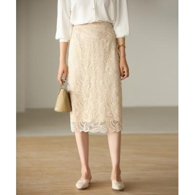 SAISON DE PAPILLON / 総レースタイトスカート WOMEN スカート > スカート