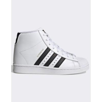 アディダス レディース スニーカー シューズ adidas Originals Superstar Up sneakers in white White