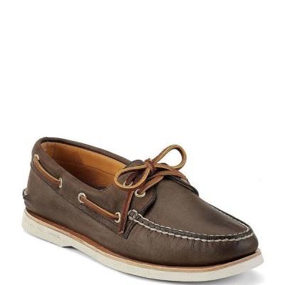 スペリー メンズ スニーカー シューズ Men's Top-Sider Gold Authentic Original 2-Eye Boat Shoes Brown