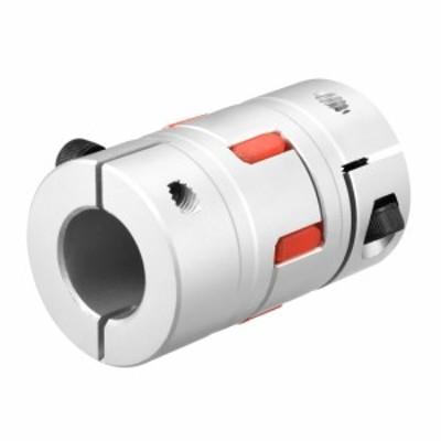 uxcell ユニバーサルジョイント フレキシブルカップリング アルミニウム合金 シルバートーン L66xD40 20mm 20mm