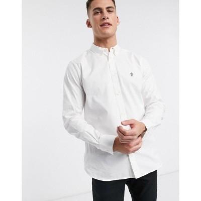 フレンチコネクション メンズ シャツ トップス French Connection Essentials oxford shirt in white White