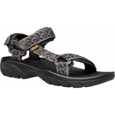 テバ メンズ サンダル シューズ Men's Teva Terra Fi 5 Universal Sandal Wavy Trail Black Polyester
