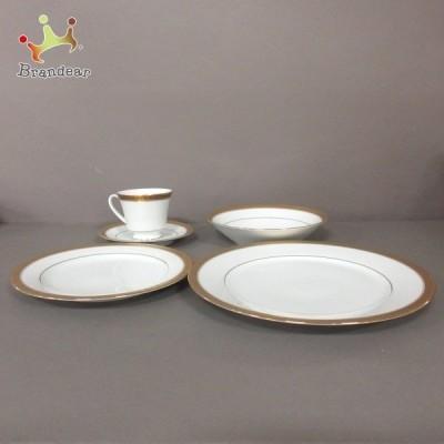 ノリタケ 食器 新品同様 - 白×ゴールド カップ&ソーサー×4点/ボウル×4点/プレート×8点 陶器   スペシャル特価 20210429