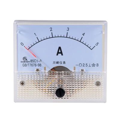 uxcell アナログ電流計 85C1-A 電流パネルメーター アンペアテスターゲージ DC 5A