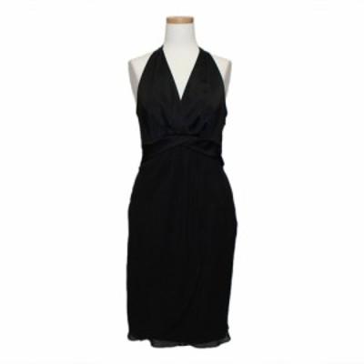 美品 CEST LAVIE セラビ「9」日本製 サテン 切り替えドレス (ドレス ミレーヌ友田) 082855【中古】