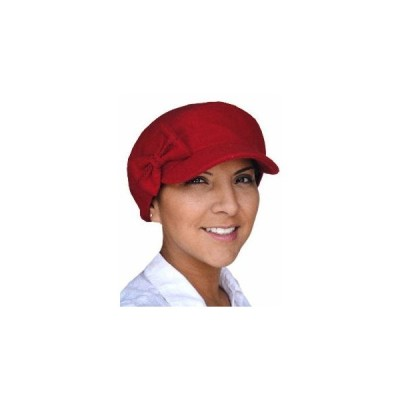 【抗がん剤治療】【医療用帽子】【ケア帽子】 キャスケット:レッドリボン