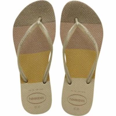 ハワイアナス Havaianas レディース ビーチサンダル シューズ・靴 Slim Palette Glow Flip-Flop Sand Grey