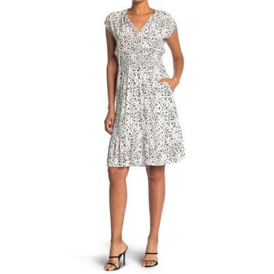 レイルズ レディース ワンピース トップス Ashlyn Split Neck Printed Dress WHITE MOCHA LEOPARD