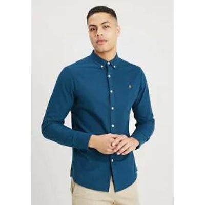 Farah メンズシャツ Farah BREWER SLIM FIT - Shirt - blue star blue star