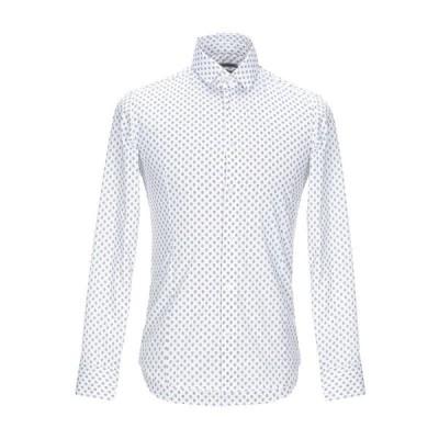 GREY DANIELE ALESSANDRINI 柄入りシャツ ファッション  メンズファッション  トップス  シャツ、カジュアルシャツ  長袖 ホワイト
