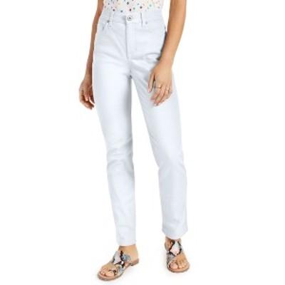 スタイルアンドコー レディース デニムパンツ ボトムス Petite High-Rise Natural Straight Leg Jeans, in Petite & Petite Short, Creat