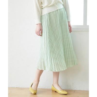 スカート チェック柄プリーツスカート