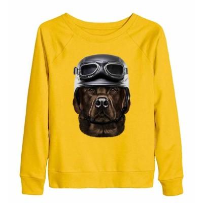 【茶毛 ラブラドルレトリバー ドッグ 犬 いぬ ヘルメット】レディース スウェット(トレーナー) by Fox Republic