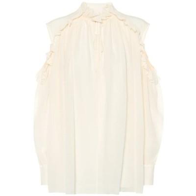クロエ Chloe レディース ブラウス・シャツ トップス Silk blouse Dusty White