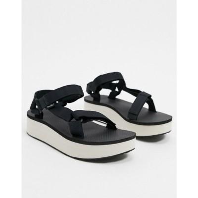 テバ Teva レディース サンダル・ミュール シューズ・靴 flatform universal sandals in black and tan ブラックタン