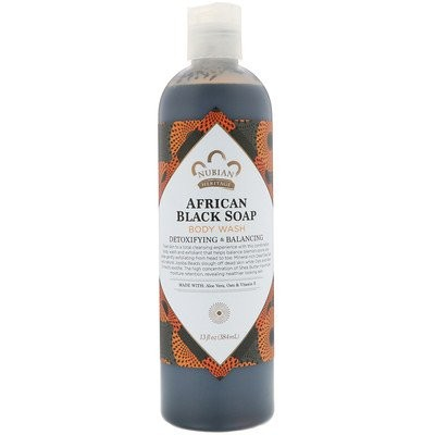 アフリカンブラックソープ、ボディウォッシュ、デトックス&バランシング、13液体オンス(384 ml)