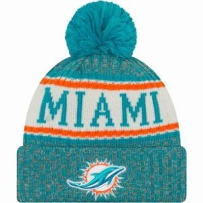 ニューエラ ニット Miami Dolphins Sideline Cold Weather Aqua Sport Knit