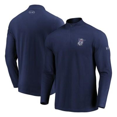 """アンダーアーマー メンズ ジャケット """"Minnesota Twins"""" Under Armour Passion Alternate Left Chest 1/4-Zip Jacket - Navy"""