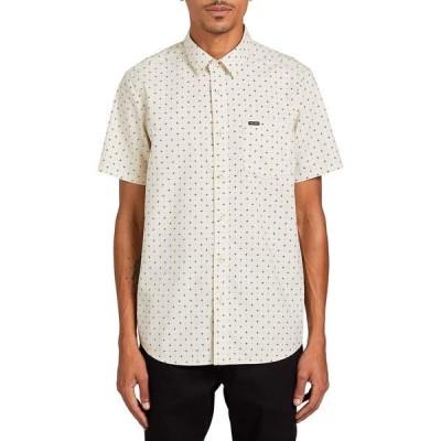 ボルコム シャツ メンズ トップス Hallock Short-Sleeve Button-Down Shirt - Men's White Flash