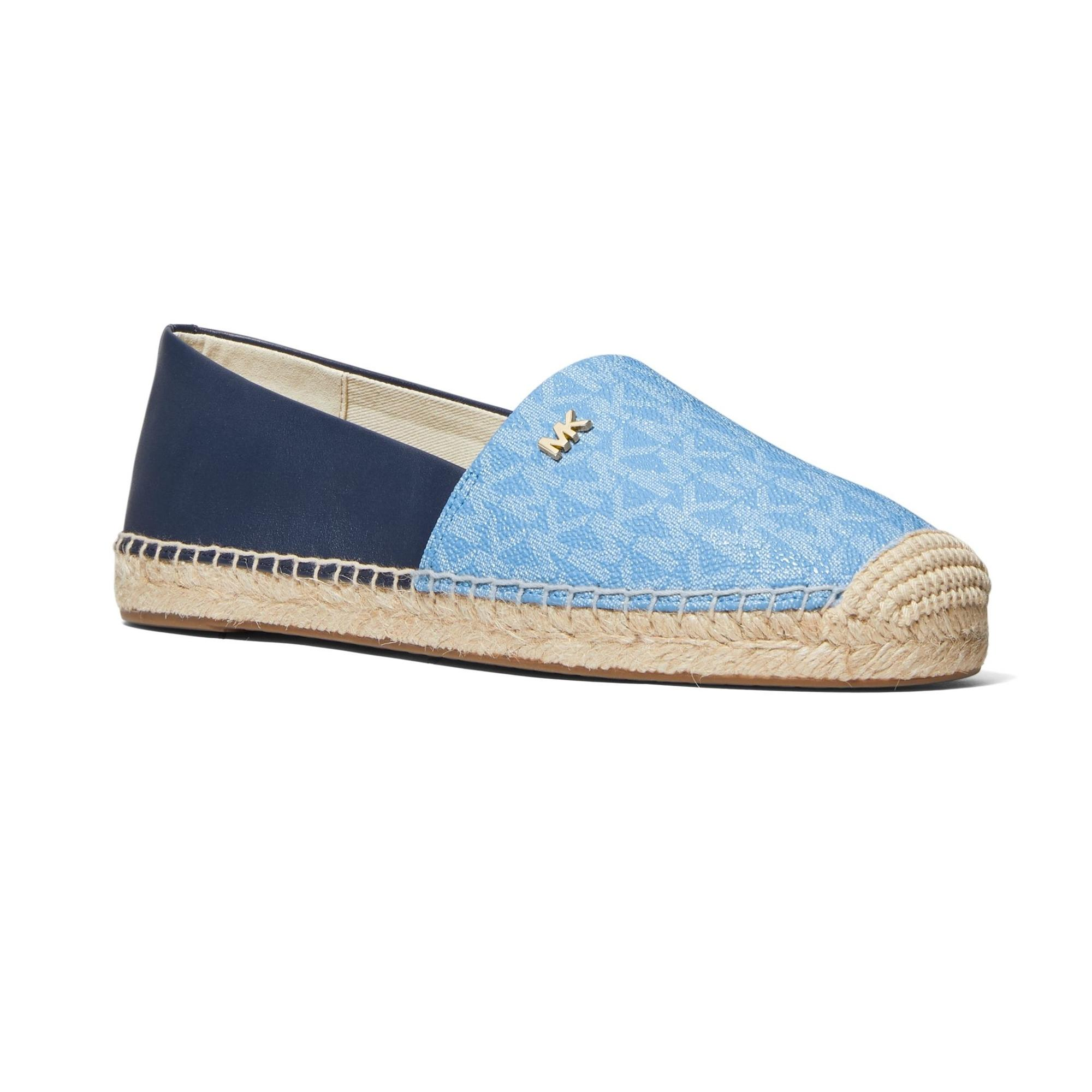 MICHAEL KORS 藍色 Logo 草編鞋