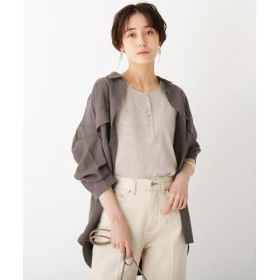 【オペークドットクリップ】 CAFFISI ドレープツイル リラクシーシャツジャケット レディース ガンメタリック 38(M) OPAQUE.CLIP