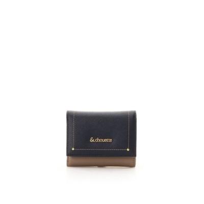 (& chouette/アンドシュエット)ステッチラインミニ財布/レディース ネイビー
