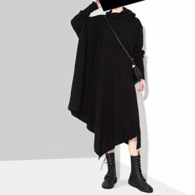 ワンピース おしゃれ レディース 秋冬 ニット ドレス BLACK