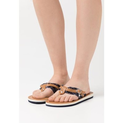 タマリス レディース 靴 シューズ T-bar sandals - navy