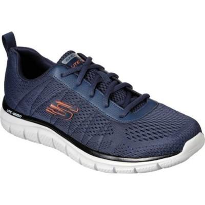 スケッチャーズ スニーカー シューズ メンズ Track Moulton Sneaker (Men's) Navy/Orange
