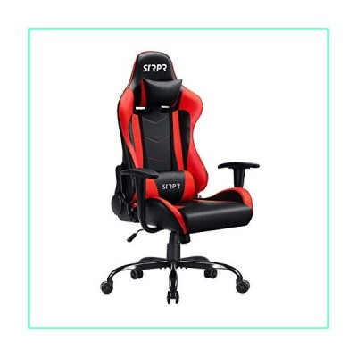 GOOGIC Gaming Chair Racing Ergonomic PU Leather Computer Game Chair High-Back Home Office Chair Angular Adjustment Recliner Swivel with Armrest Pad, (