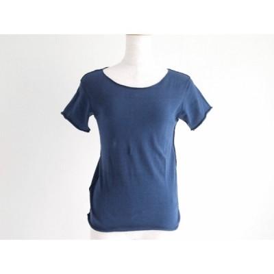 #snc タマキニイメ tamakiniime カットソー Tシャツ 半袖 紺 切りっぱなし レディース [645040]