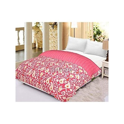 iinfinize Handwoven Kantha Quilt Cotton Kantha Quilt Twin Bedspreads Throw