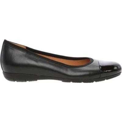 ガボール サンダル シューズ レディース 94-161 Ballerina Flat (Women's) Black Hi-Tech Nappa Leather