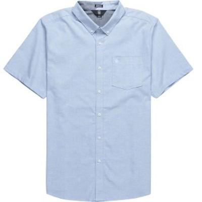 ボルコム メンズ シャツ トップス Everett Oxford Short-Sleeve Shirt - Men's Wrecked Indigo