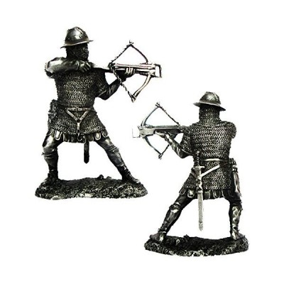 Military-historical miniatures Crusader Warrior 12 Century Tin Metal 54mm Action Figures Toy Soldiers Size 1/32 Scale for Home D〓cor Accent