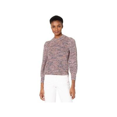 Madewell Space Dye Nicole Puff Sleeve Pullover レディース セーター Marled Plum