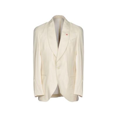 イザイア ISAIA テーラードジャケット ホワイト 46 49% ウール 30% シルク 21% 麻 テーラードジャケット