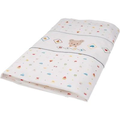 西川産業 babypuff 洗えるシリーズ! 掛けカバーリング ホワイト LJE6801022-W LP9020