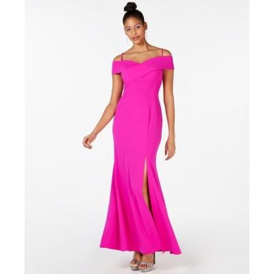 ナイトウェイ Nightway レディース パーティードレス ワンピース・ドレス Cold Shoulder Gown Blush