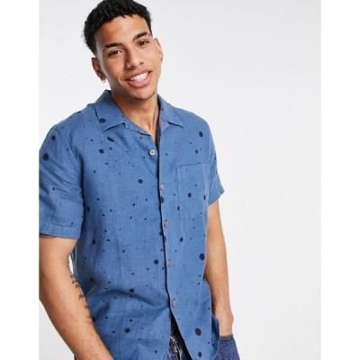 ポールスミス メンズ シャツ トップス Paul Smith casual short sleeve shirt Blues